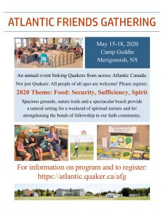 Atlantic Friends Gathering Poster 2020